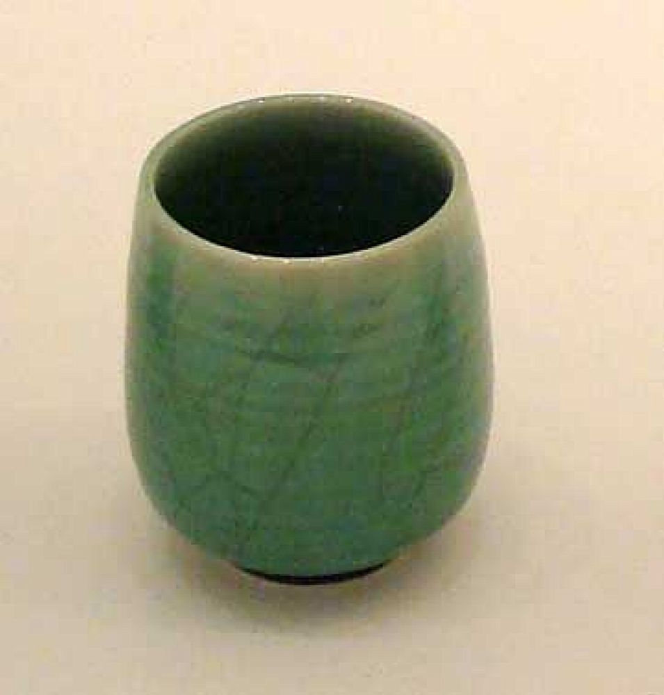 Dark Green Crackle Cup | Christine-Ann Richards