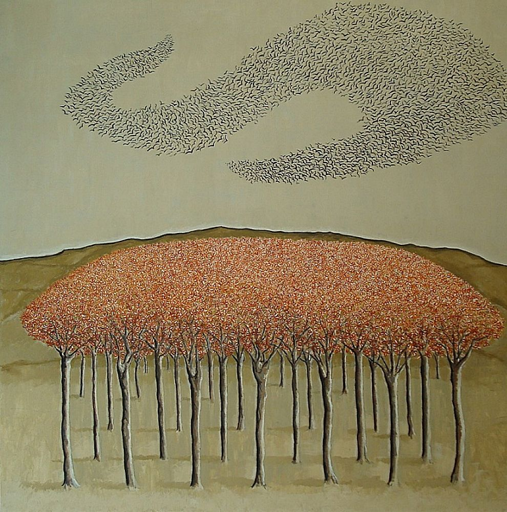 Orchard with Birds | Evelyn Williams