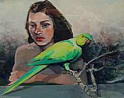 Shakuntala and Parakeet | George Donald