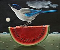 Bird on a Watermelon | Eleanor Fein