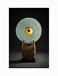 15. Glass Disc with Gold Leaf Inset | Peter Hayes