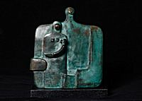 44. Bronze Couple with Child | Peter Hayes