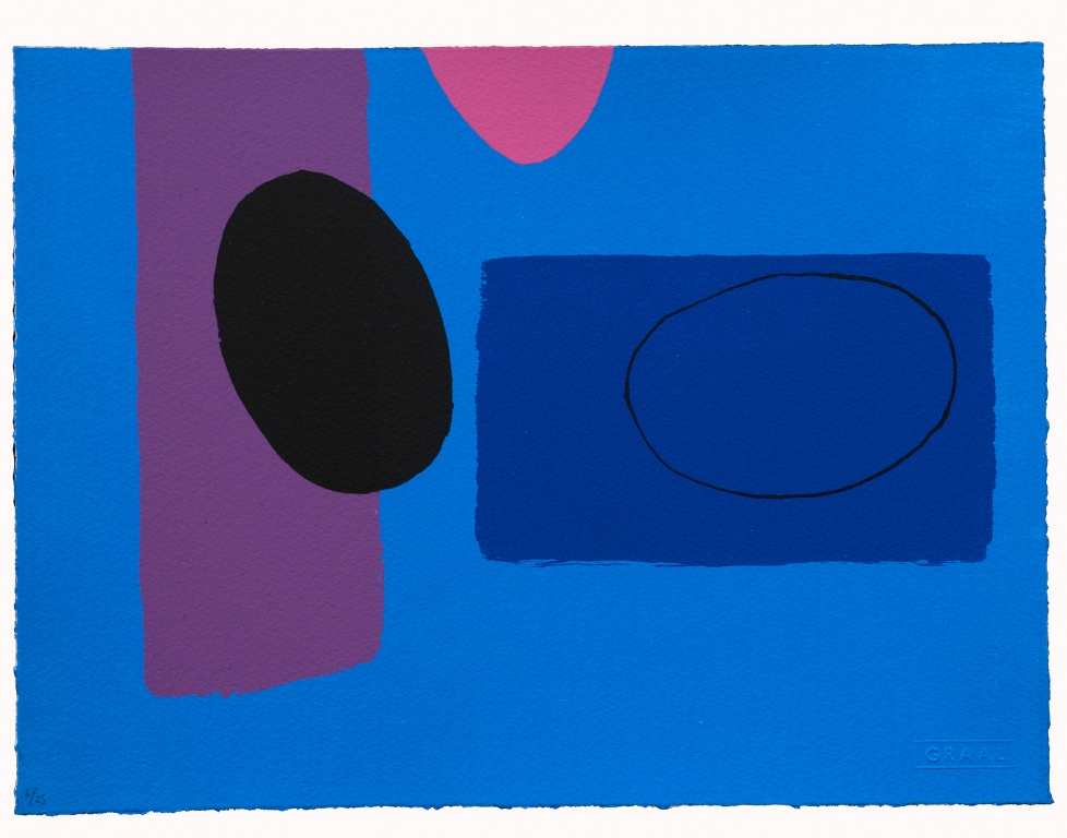 Cobalt and Pink Playing Games | Wilhelmina Barns-Graham