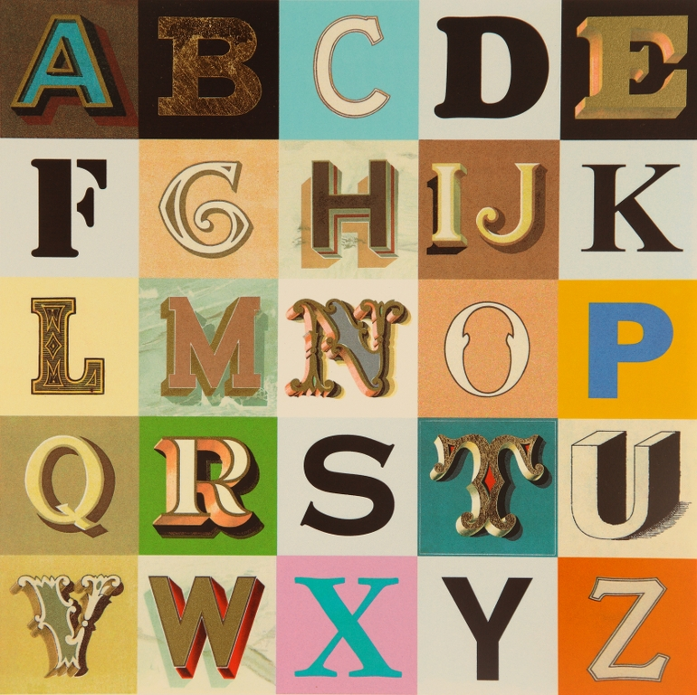 Appropriated Alphabet 9 | Peter Blake